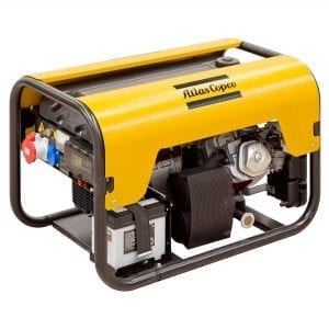 ATLAS COPCO Gasoline Generator 12KVA, 230V, 50Hz, Open Type, Single Phase, Rope Start