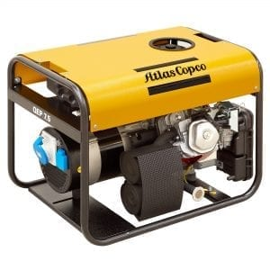ATLAS COPCO Portable Gasoline Generator, Open Type, Single Phase, Auto/Electric Start